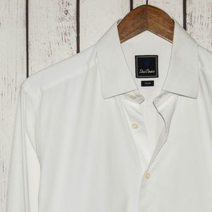 David Donahue TRIM Fit Men's French Cuff Shirt